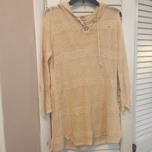J.Crew Partner Knitted Beach Coverup in Cream